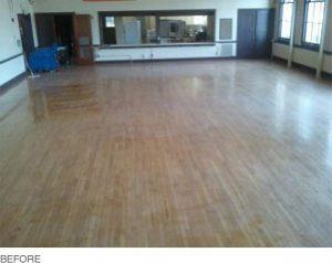 Wood Floors before cleaning, polishing, and sealing